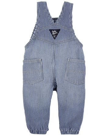 Stretchy Hickory Stripe Overalls