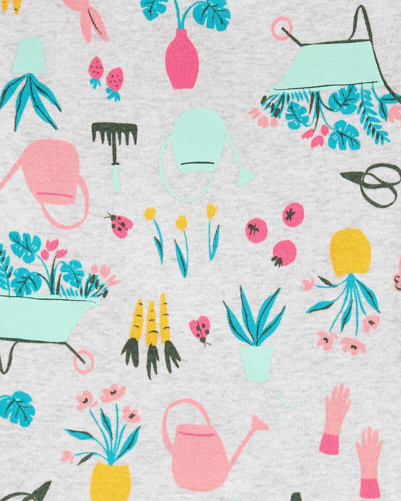 Pyjama 4 pièces en coton ajusté motif lapin, , hi-res