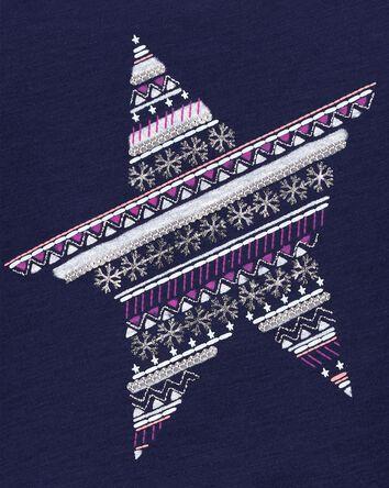 Tie-Hem Snow Star Top