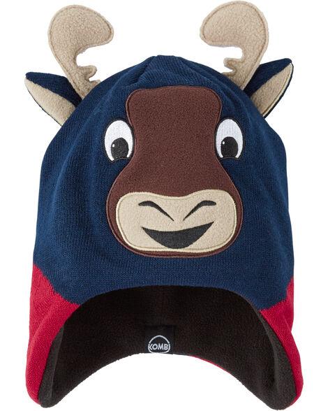 Fleece-Lined Marvin The Moose Knit Hat