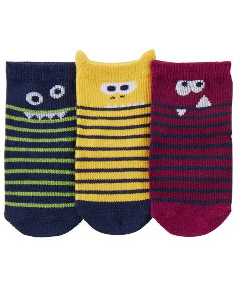Emballage de 3 paires de chaussettes de marin à motif monstre