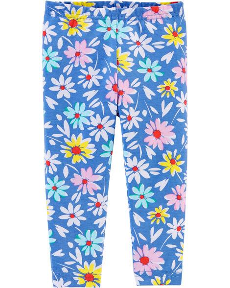 Daisy Print Jersey Leggings