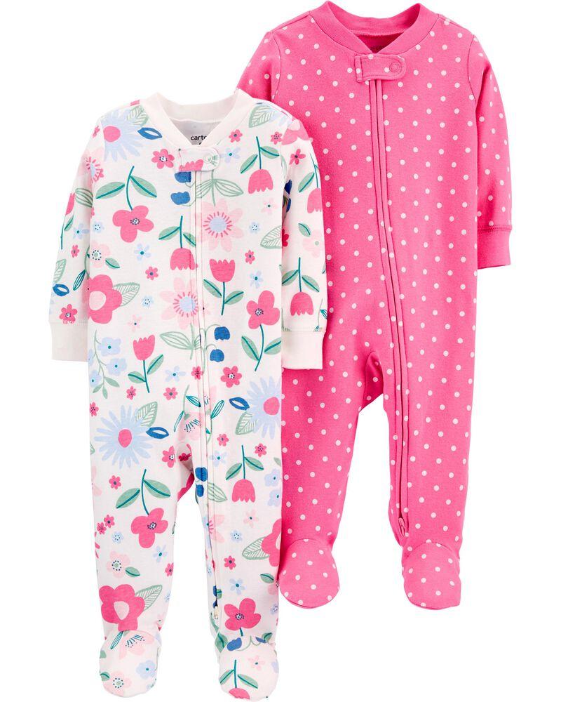 2-Pack Cotton Zip-Up Sleep & Plays, , hi-res