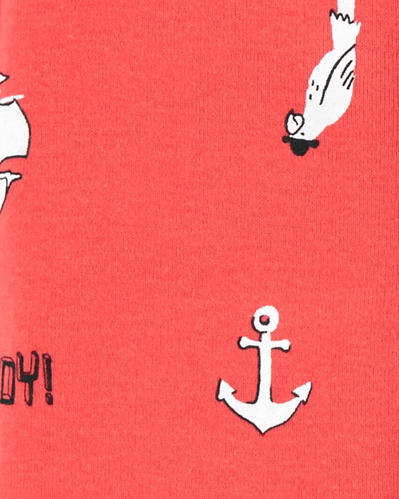1-Piece Nautical 100% Snug Fit Cotton Footless PJs, , hi-res