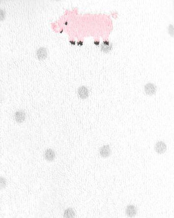 Pig Snap-Up Terry Sleep & Play