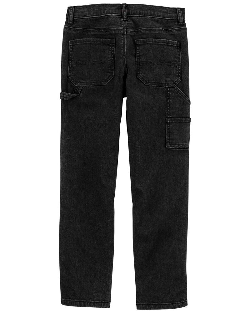 Straight Carpenter Jeans in Bronco Black, , hi-res