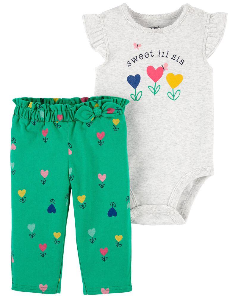 2-Piece Little Sister Bodysuit Pant Set, , hi-res