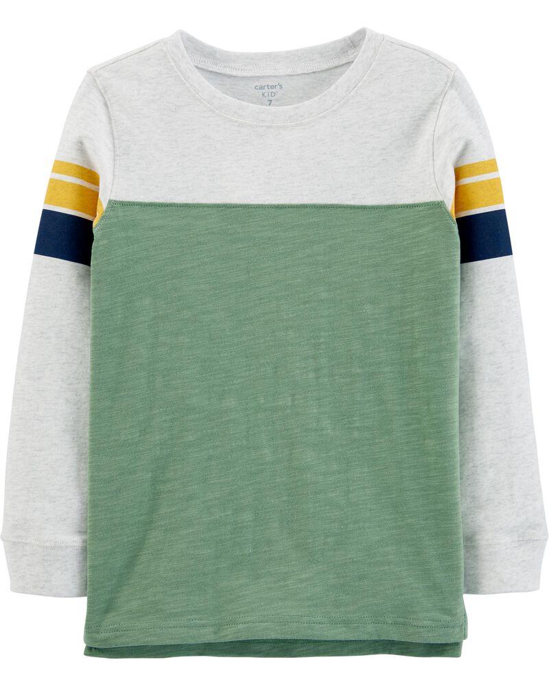 T-shirt rayé en jersey, , hi-res