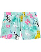 Animal Pull-On French Terry Shorts, , hi-res