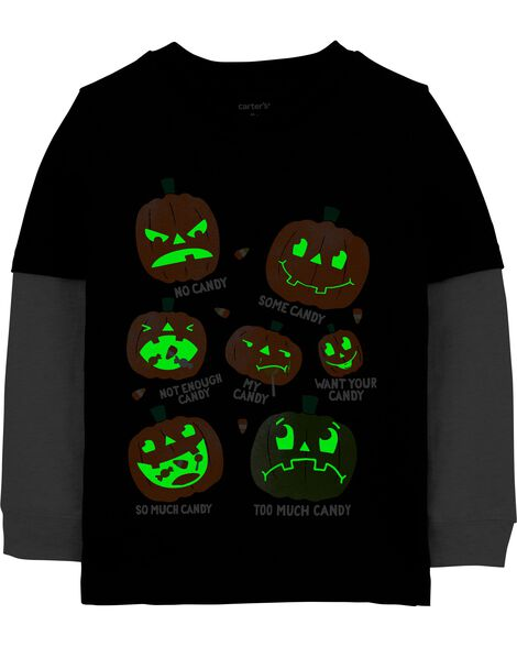 T-shirt en jersey de style superposé Halloween