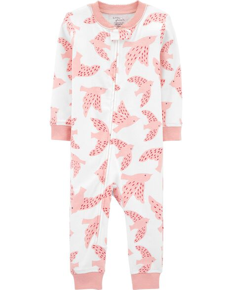 1-Piece Certified Organic Snug Fit Cotton Footless PJs