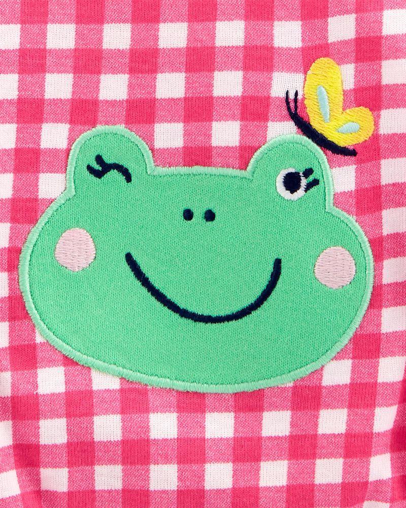 Barboteuse en coton à grenouille, , hi-res