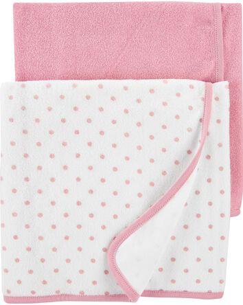 Emballage de 2 servettes pour bébé