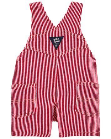 Hickory Stripe Stretch Shortalls