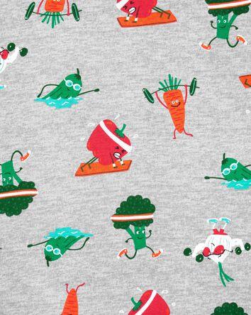 Pyjama 4 pièces en coton ajusté veg...