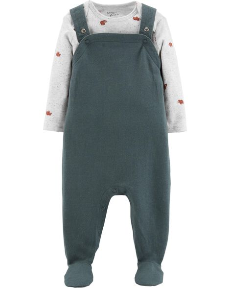 Certified Organic 2-Piece Overall Set