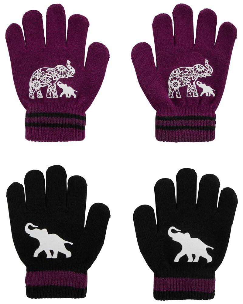 Emballage de 2 paires de mini gants éléphant KOMBI, , hi-res