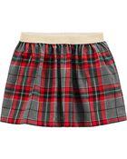 Holiday Plaid Skirt, , hi-res