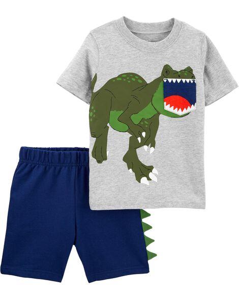 2-Piece Dinosaur Pocket Tee & Short Set