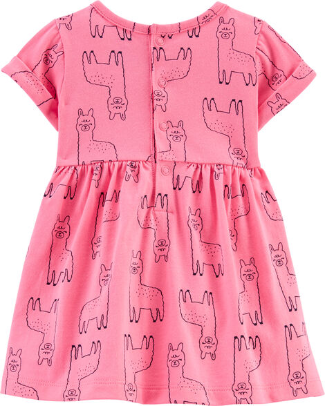 Llama Jersey Dress