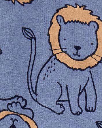 Lion 2-Way Zip Cotton Sleep & Play