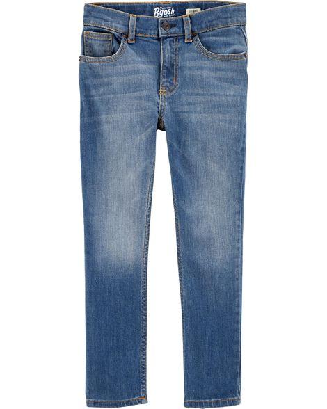 Jeans fuseau coupe régulière - indigo vif