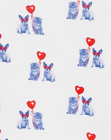 T-shirt à chat et chien de la Saint-Valentin