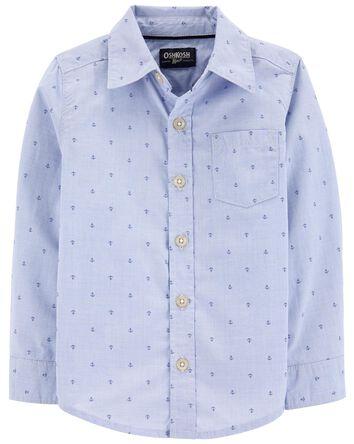 Chemise boutonnée à motif d'ancres