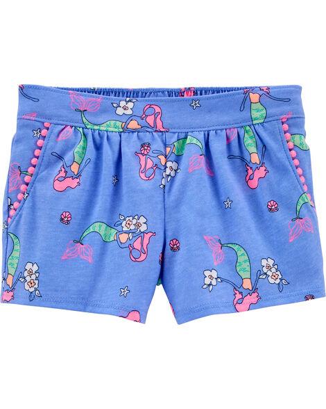 Mermaid Pom Pom Shorts