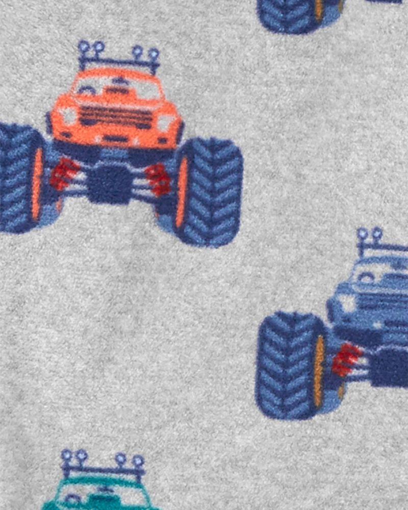 1-Piece Monster Truck Fleece Footless PJs, , hi-res