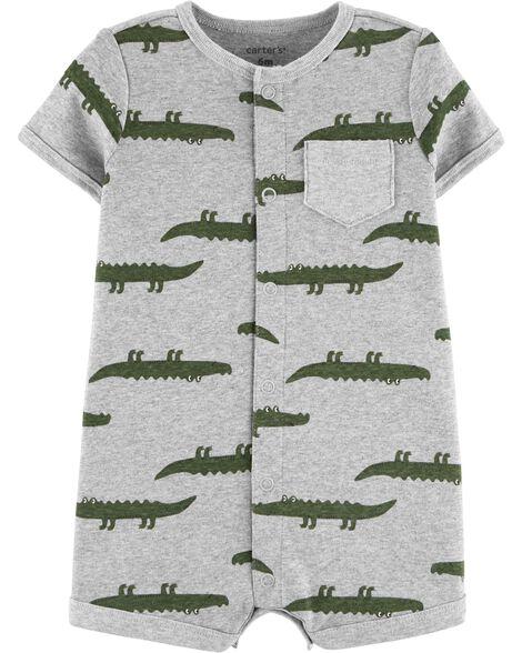 Barboteuse à boutons-pression et alligator