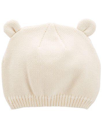 Bonnet à oreilles d'ourson