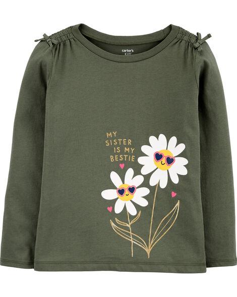 T-shirt en jersey avec marguerites