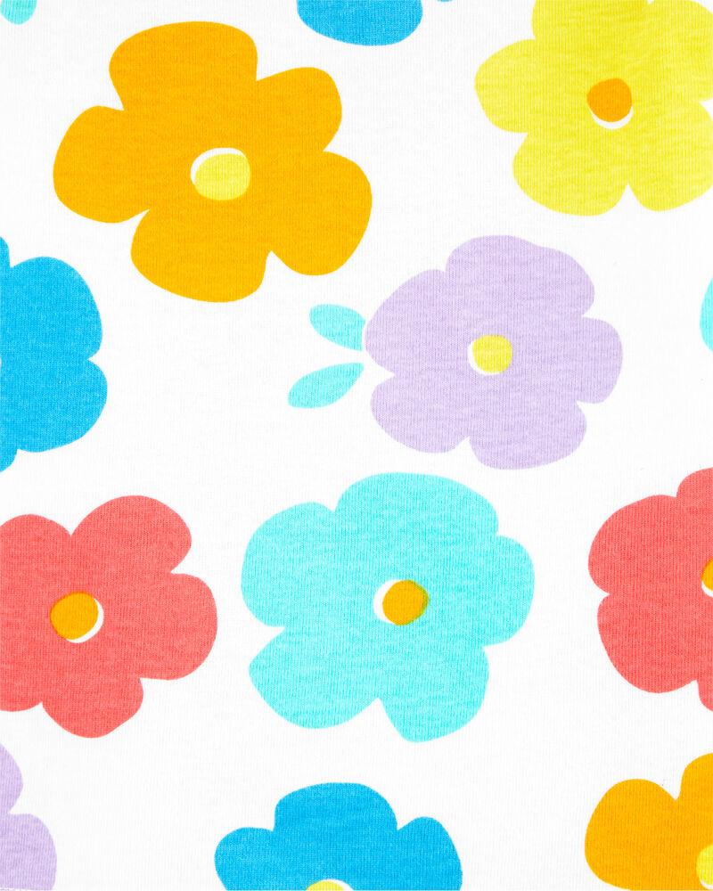 4-Piece Floral Snug Fit Cotton PJs, , hi-res