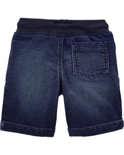 Short à enfiler en tricot de denim