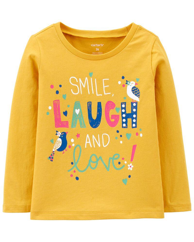 T-shirt en jersey Smile Laugh & Love , , hi-res