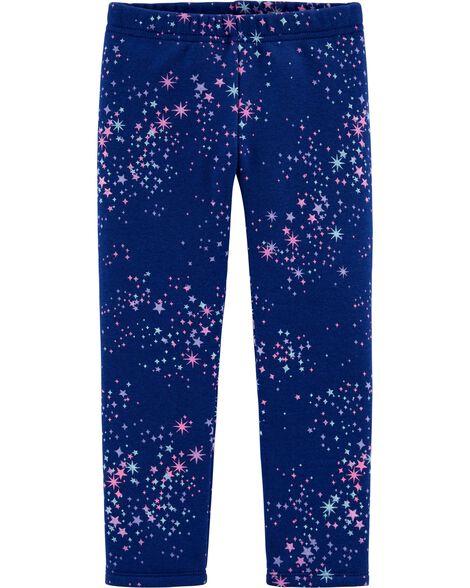 Starry Boa Fleece Leggings