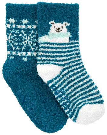 2 paires de chaussettes mi-mollet à...