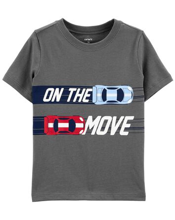 On The Move Race Car Jersey Tee