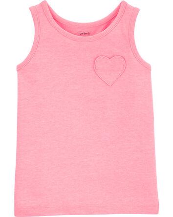Neon Heart Pocket Jersey Tank