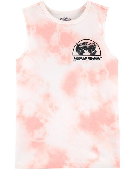 Tie-Dye Monster Truck Muscle Tank