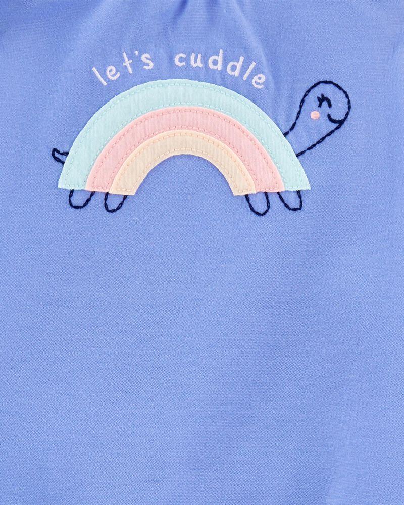 Pyjama 3 pièces en polyester de coupe ample à arc-en-ciel, , hi-res