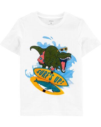 T-shirt en jersey flammé avec dinos...