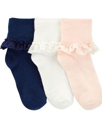 3 paires de chaussettes à dentelle