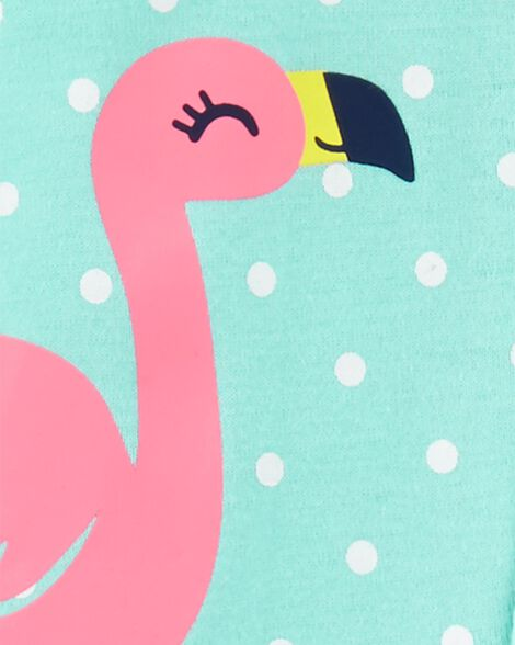 1-Piece Flamingo Snug Fit Cotton Footless PJs