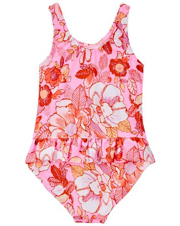 Neon Floral One Piece Swimsuit