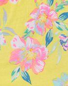 Débardeur à fronces et fleurs tropicales , , hi-res