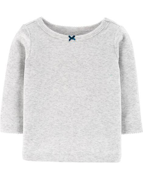 Ensemble 3 pièces t-shirt et robe chasuble à pois