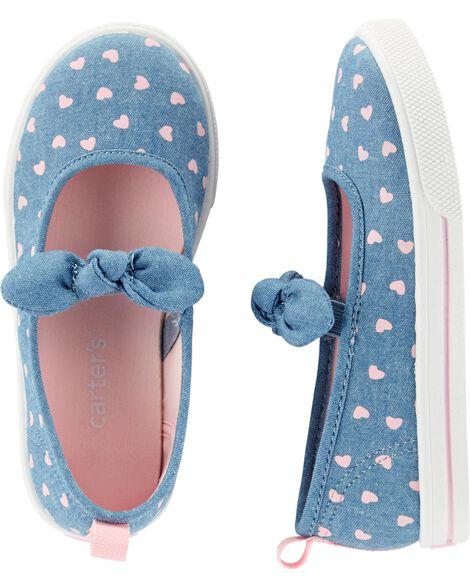 Chambray Slip-On Shoes