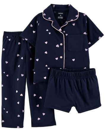 3-Piece Coat-Style Loose Fit PJs